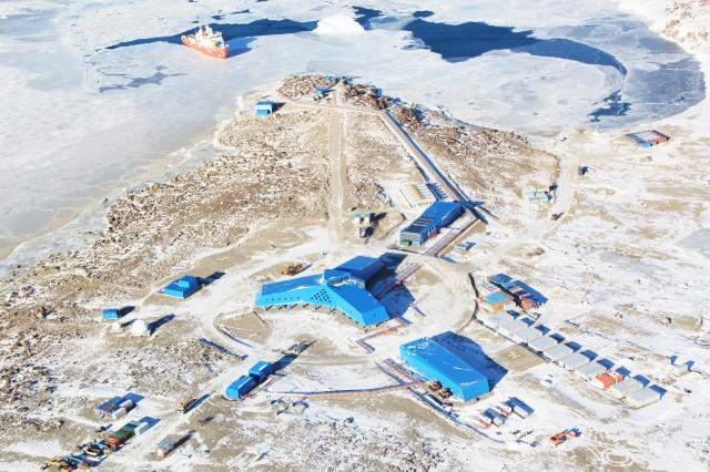 세종과학기지에 이어 국내 두 번째 남극 기지인 '장보고과학기지' 전경. - 극지연구소 제공